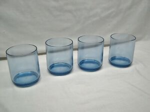 4 RUBBERMAID BLUE ACRYLIC STACKING TUMBLERS DRINKING GLASSES CUPS 12 OZ