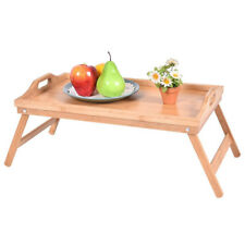 Wood Bed Tray Breakfast Laptop Desk Food Serving Hospital Table Folding Legs New