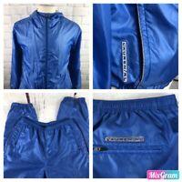 """VTG Lauren Ralph Lauren Men's Baby Blue Lined Track Suit Large L Inseam 30"""" DSC1"""