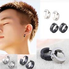 Huggies Ear Stud Earrings Gothic Us 2 Pairs Mens Women Stainless Steel Hoop