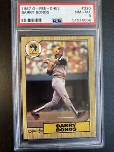 1987 O-PEE-CHEE OPC BARRY BONDS RC ROOKIE CARD #320 PSA 8 NM-MT