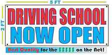 Driving School Now Open Banner Sign New Larger Size Best Quality for the $
