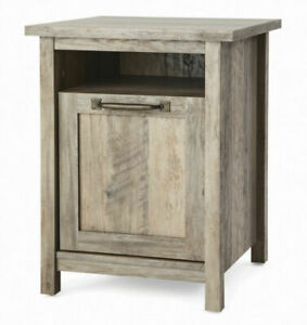Better Homes & Gardens Modern Farmhouse Nightstand With USB, Rustic Gray Finish