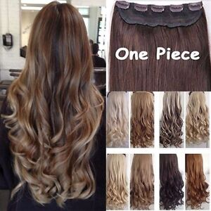 Real Thick 3/4 Full Head Clip In Hair Extensions Full Colors Natural As Human EA
