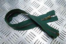 "Genuine British Military ANF 17½"" Open End Green Zip / Zipper H Duty ZPM58"