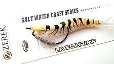Zerek Live Shrimp Prawn Soft Rubber Lure Seabass Jack 127mm 15.5g Col 14