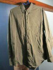 LT green PLAID BUTTON UP POCKET CASUAL shirt by ARROW