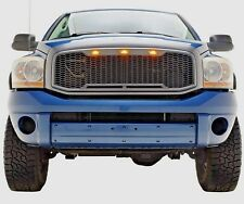 2006 2007 2008 Ram 1500 Raptor Style Grille Led Gray