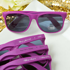 40 Personalized Purple Sunglasses Bridal Shower Outdoor Wedding Party Favors