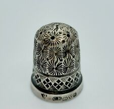 More details for sterling silver thimble charles horner hallmarked 1916 no. 8