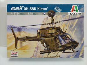 ITALERI 1:48 scale Bell OH-58D Kiowa Plastic Helicopter Model Kit #2704