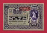 SCARCE 100+ Years Old (AUNC) Austro-Hungarian 10,000 KRONEN 1918 NOTE (Pick-25)