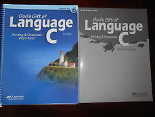 A Beka Book Language C Teacher keys homeschooling 6th grade lot of 2 English