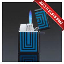 Siglo Geometry lighter - Blue, Jet Flame Cigar Lighter Torch lighter, Gift Box