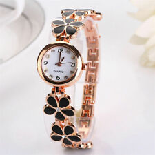 Elegant Dress Watch Women Girls Flower Round Quartz Analog Bracelet Watches