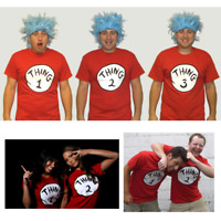Thing T-Shirts (Choose Number) 1 2 3 Adult Youth Cat In The Hat Costume Dr Seuss