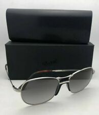 Polarized PERSOL Sunglasses 2449-S 518/M3 56-17 145 Silver Frame w/Grey Gradient