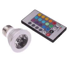 E27 3W 5W 16 Color RGB LED Wireless Remote Control Magic SpotLight Bulb Lamp