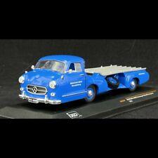 Mercedes-Benz transporteur voiture de course 1955 Bleu Merveille 1/43 - Ixo Mode