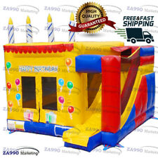 16x16ft Inflatable Birthday Bounce House & Slide Castle With Air Blower