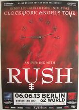 RUSH CONCERT TOUR POSTER 2013 CLOCKWORK ANGELS