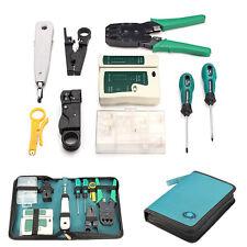 9pcs RJ45 CAT5 LAN Network Tool Cable Tester Crimper Stripper Set web tool bag