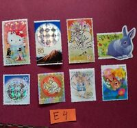 PETER RABBIT BEATRIX POTTER HELLO KITTY KITTENS CATS PETS   USED JAPAN STAMPS