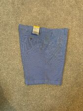 Men's Marks and Spencer Navy Mix Small Check Pure Cotton Shorts Waist 38 in