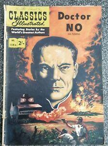 Classics Illustrated comic #158A Dr No Australian/UK edition Key 1st James Bond