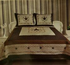 Texas Star 3 piece Bed Spread set 110x 96 OVERSIZED  KING! FITS LG MATTRESSES