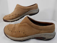 Merrell Dark Earth Womens Casual Select Grip Walking Shoes Sz 9 Slip On Brown