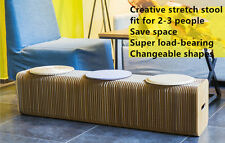 Modern stretch stool home furniture foldble chair Micro paper design Waterproof