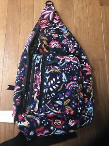 Vera Bradley*NWT*ICONIC Quilted SLING BACKPACK-Foxwood**Back 2 School