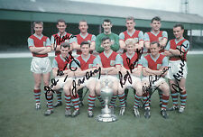 BURNLEY Signed In Person 12x8 Photo 1960 CHAMPIONS Proof COA