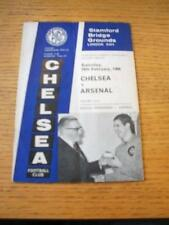 19/02/1966 Chelsea v Arsenal  (Creased, Folded & Score On Cover). No obvious fau