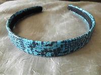 Top Haarreif blau schwarz Schlangen Muster   NEU