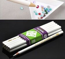 10 Crayons de Ramassage Strass/Outils pour Ongle Art Blanc