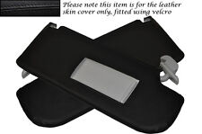 BLACK STITCHING FITS VW LUPO 1998-2005 2X SUN VISORS LEATHER COVERS ONLY