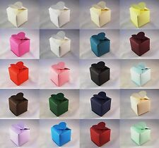 Heart Top Wedding Favour Boxes - Choose Colour - Choose QTY - SC10. 10, 50, 100
