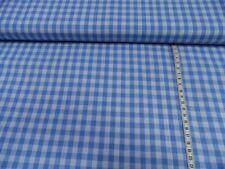 Vichy Cuadriculado Tela de algodón azul medio/blanco aprox. 140 cm ancho 100%