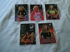 WWF - 5 postcards featuring Women WWF Wrestlers (Excellent condition)