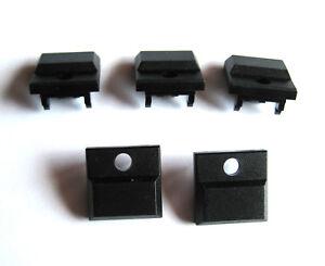 5 Stück ITT Schadow DIGITAST Schaltkappen mit Loch schwarz 17,1 x 17,3mm (M7690)