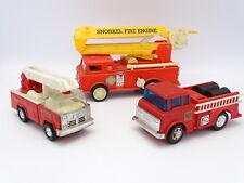 Playart et Divers Hong Kong 15-20cm - Lot de 3 Camions de Pompiers dont Snorkel