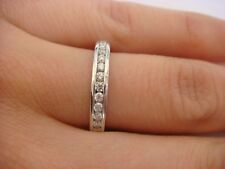 0.40 CT T.W CHANNEL SET THIN LADIES DIAMOND WEDDING BAND 14K WHITE GOLD 3MM WIDE