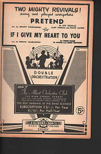 Pretend/If I Give My Heart To You Orchestration JohnnyWarrington Arr Sheet Music