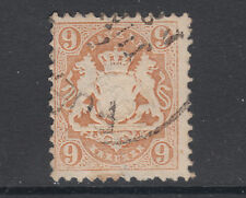 Bavaria Sc 27a used 1872 9kr pale brown Coat of Arms, perf 11½, Fine+