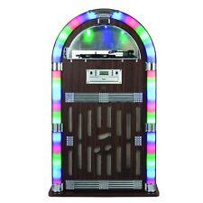 Itek I60021 Jukebox 1950's Retro Bluetooth CD Led Light FM Radio Record Player N