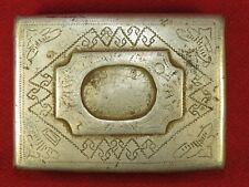 WW2 cigarette case, trench art, frontline made from the parts of the German plan
