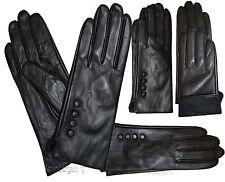 Leather gloves. Woman's Leather Black winter Gloves. Dress Gloves. Warm Gloves.