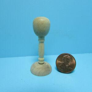 """Dollhouse Miniature Tall 2"""" Wood Hat Stand T8408"""
